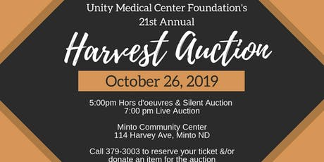 UMCF's 21st Annual Harvest Auction tickets