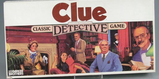 """LIVE ACTION GAME OF """"CLUE""""® and Scavenger Hunt"""