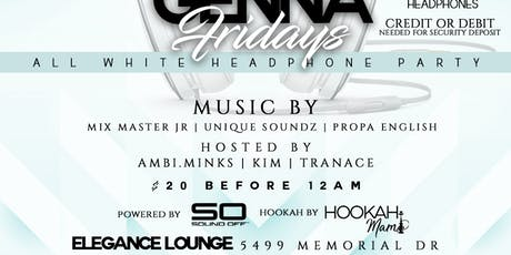 Genna Friday's all white headphone party tickets