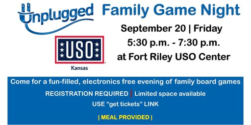 Unplugged Family Game Night SEPTEMBER 20