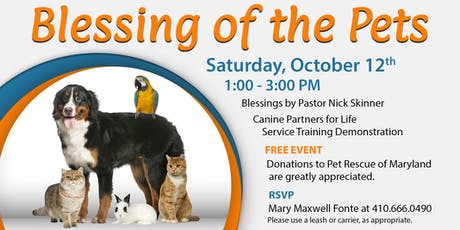 Blessing of the Pets at Dulaney Valley Memorial Gardens tickets