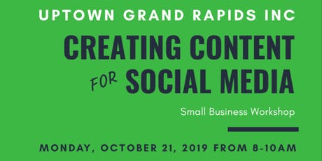 Small Business Training: Creating Content for Social Media tickets