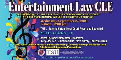 Entertainment Law CLE tickets