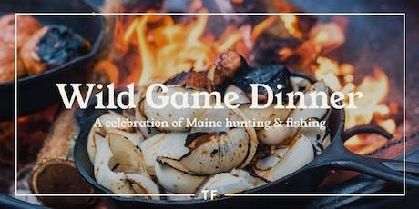 WILD GAME, WILD WINE: Tops'l Farm Dinner tickets