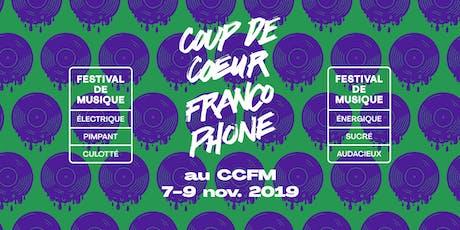 Coup de coeur francophone 2019 au CCFM - Passes tickets