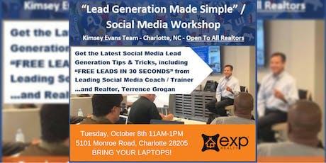 LEAD GENERATION MADE SIMPLE - SOCIAL MEDIA WORKSHOP tickets