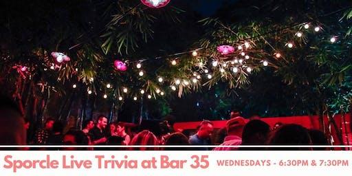 Wednesday Night Trivia at Bar35!
