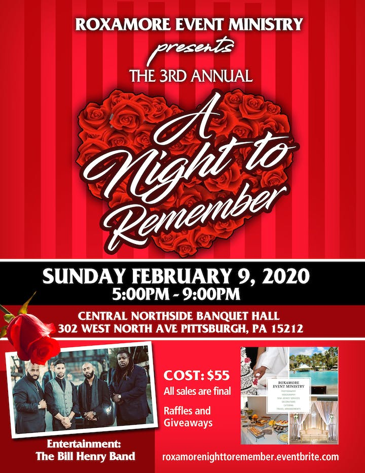 Pittsburgh Events February 2020.The 3rd Annual A Night To Remember