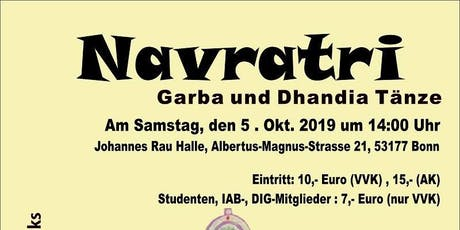 Navratri - Garba and Dhandia Dances in Bonn Tickets