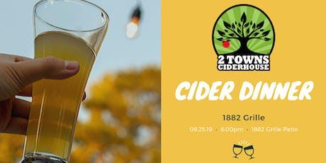 2 Towns Cider Dinner tickets