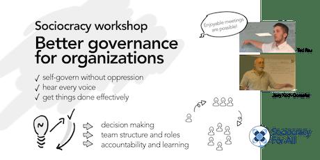 Sociocracy workshop: Better governance for organizations. tickets