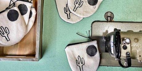 Sew and Blockprint a Clutch Workshop tickets