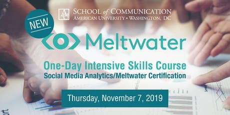 Social Media Analytics + Meltwater Certification tickets