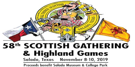 2019 Salado Scottish Highland Games Athletic Registration
