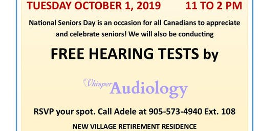 National Seniors Day Free Hearing Tests