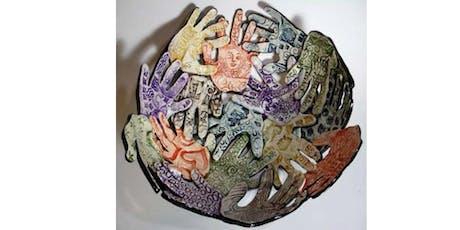 """2 day Workshop """"Thankful Hands"""" handbuilt bowl....With Aurora Lucas  tickets"""