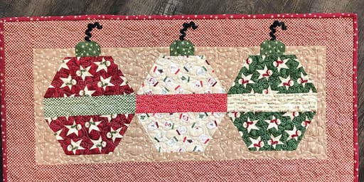 Christmas Ornament Table Runner with Annette