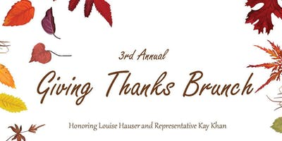 3rd Annual Giving Thanks Brunch