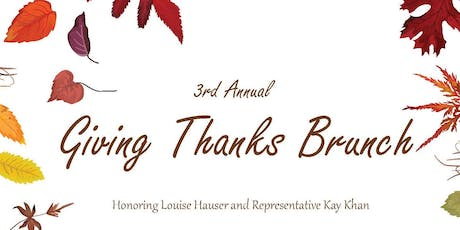 3rd Annual Giving Thanks Brunch tickets