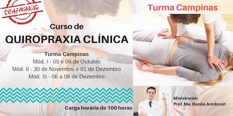Curso de Quiropraxia Clínica - Campinas ingressos