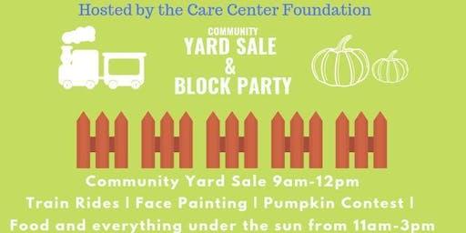Community Yard Sale & Block Party
