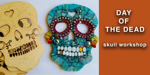 Day Of The Dead Mosaic Skull Workshop