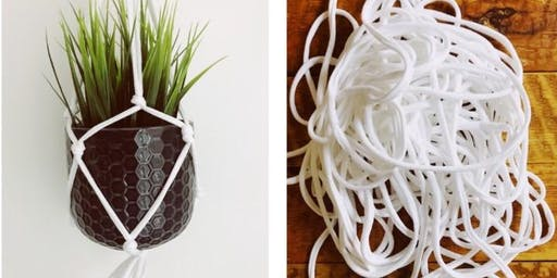 SOLD OUTFull Circle Tees - Stretford- Upcycle Macrame Plant Hanger Workshop