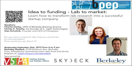 Idea Evaluation - Lab To Market | Berkeley Postdoc Entrepreneur Program (BPEP) tickets