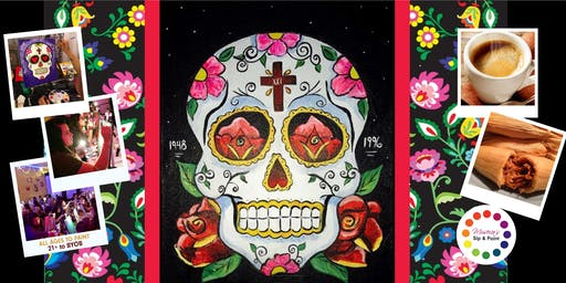 Museica's BYOB Dine & Paint - Day of the Dead Sugar Skull