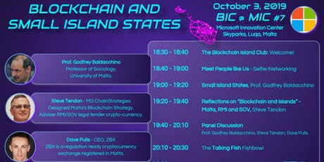 Blockchain and Small Island States tickets