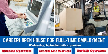 Career1 Open House for Full-Time Employment Opportunities tickets