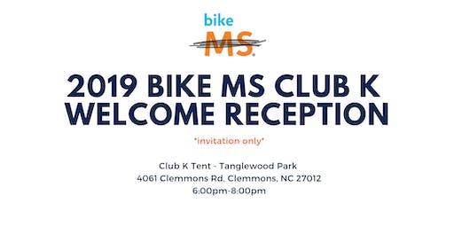 Bike MS Club K Welcome Reception