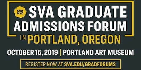 SVA Graduate Admissions Portland, OR Forum tickets