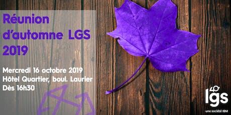 Réunion d'Automne LGS 2019 tickets