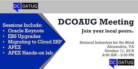 DCOATUG Meeting 2019 tickets