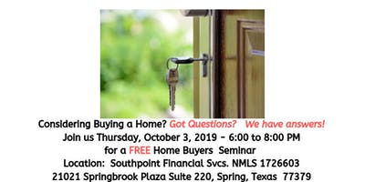 First Time and Previous  Home Buyer Seminar