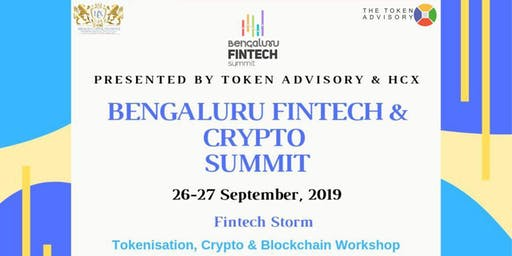 Bengaluru Crypto Summit -Digital Securities, Cryptocurrencies, Tokens 27Sep
