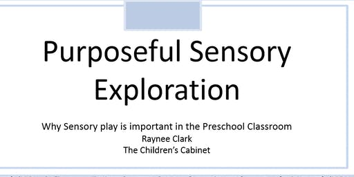 Cancelled:Purposeful Sensory Exploration: Why Sensory Play is Important in the Preschool Classroom