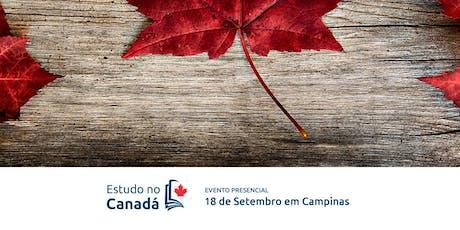 Estudo no Canadá - Palestra sobre educação no Canadá em Campinas ingressos