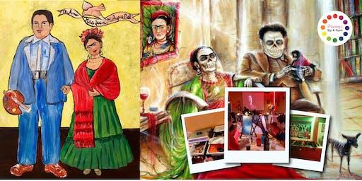 BYOB Dine & Paint: Taco Tuesday FRIDA & DIEGO (Dinner & Movie included!)