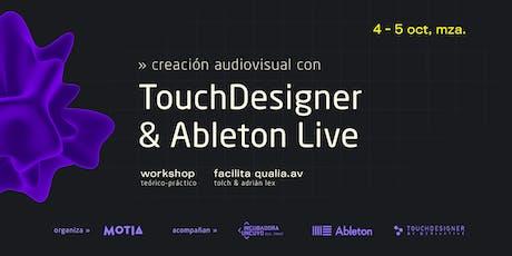 Ableton Live y Touch Designer: Creación de contenidos audiovisuales entradas