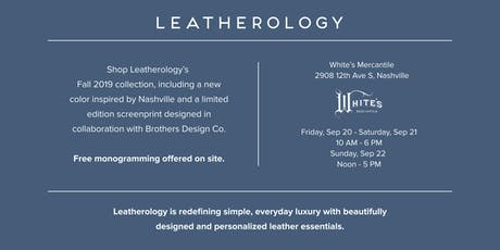 Leatherology On The Road - Nashville  tickets