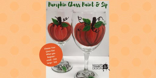 Pumpkin Glasses - Paint & Sip - PDX - 10/6