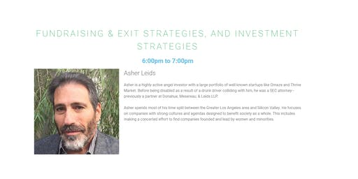 Fundraising & Exit Strategies, and Investment Strategies
