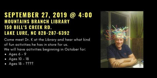 Dr. K Comes To Mountains Branch Library