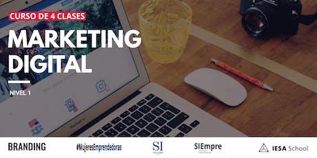 Curso de Marketing Digital Nivel 1 entradas