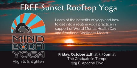 FREE Sunset Rooftop Yoga at The Graduate Tempe tickets