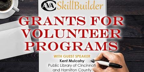 Grants for Volunteer Programs tickets