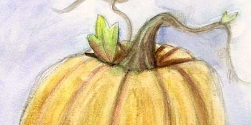 Kid's Creative Club Homeschool Edition - Watercolor Pumpkins