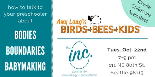 Birds, Bees and Kids Talk for Parents of Preschoolers
